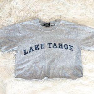 VINTAGE cropped lake tahoe shirt